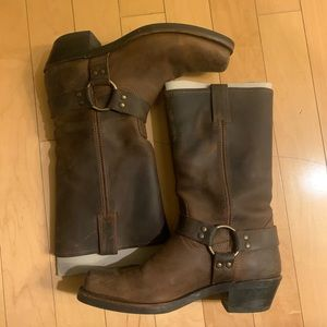 Frye 12R Harness Brown Boots 10 like new!